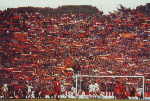la Sud e la sciarpata in Roma-Bayern 20 marzo 1985
